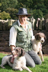 Di with tow of her dogs